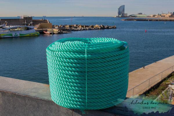 Cuerda de polietileno verde