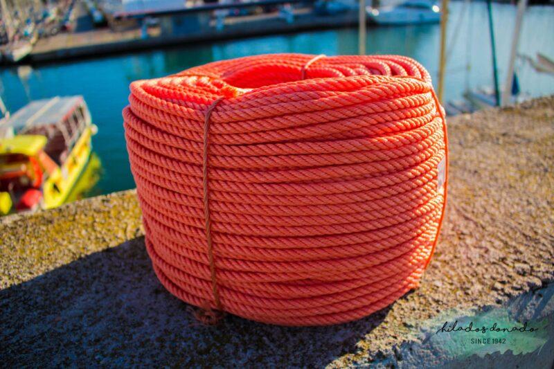 Cuerda de polietileno naranja